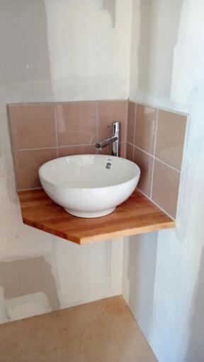 pose vasque salle de bain