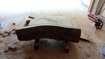 création d'un coffre bois urne mariage